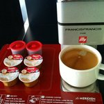 We stayed in a club room and we have our very own Illy cafe machine!