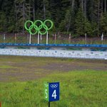 An empty Biathlon Shooting range at the Olympic Park
