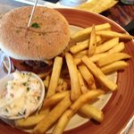 Pulled Pork and Cheese Burger
