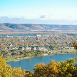 Garvin Heights has beautiful views of Winona and the Mississippi River