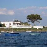 La villa vista dal mare!