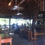 Inside the restaurant,...very cozy and islandy.
