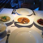 selection of main courses
