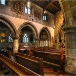 inside eyam church