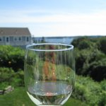 Enjoy a glass of wine and the view!