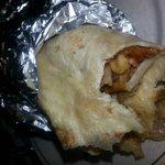 rollo de kebab de pollo