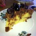 Polenta cake with Cherries.