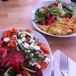 Coronation Chicken and Spanish Salad.