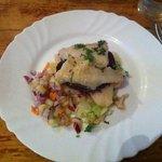 yum yum! Cat fish and beetroot :-)