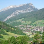 le grand bornand from hillside.