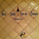 French lessons in the bathroom