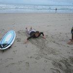 Swimmin' in the sand