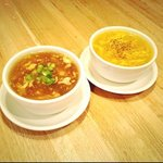 Hot & Sour Soup and Egg Drop Soup