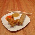 Crab Rangoon and Egg Roll!