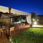 Großes Loungebereich im Garten