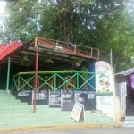 this is the restaurant as you walk towards.sosua beach