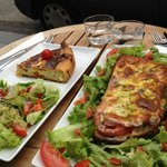 Goat cheese quiche and Tartine Italienne