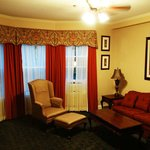 Sitting area in the room - almost lavish in its appointments