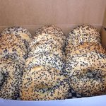 Sesame bagels off to make to make someone's day a lot more fun!!!!