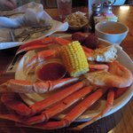 Steamed Crab and Shrimp Plate