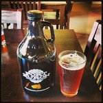 Growler and Amber Beer