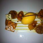 Aprikose und Nougat