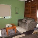 Lounge opening to master