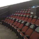 The new seats in the new dome at the Planetaium