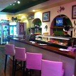 inside bar/sushi area