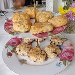 scrumptious scones (Peach and Chocolate Chip)