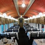 Interior view of a great dining car