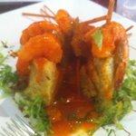 (Mofongo stuffed with shrimp (Mofongo relleno de camarones)