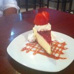 Cheese and strawberry cheesecake