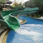 Kids (big and small) love the waterslide!