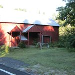 The barn near Trout Brook, just across the street from the B&B