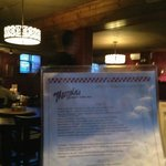 Menu at Mazzola's