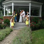 Beautiful grounds and gazebo for our wedding.