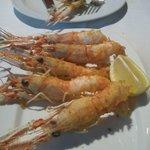 Cigalitas en tempura