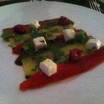 aubergine courgette et poivrons marinés