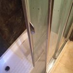 Shower door that fell on me