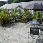 Garden with patio furniture