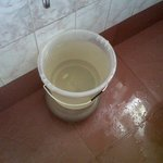 The dirty and brown coloured water supplied in bathrooms