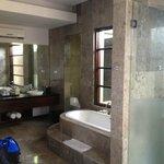 Bathroom (massive shower, large sunken bath)