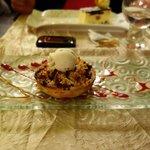 Tartelette pomme et framboise façon crumble