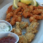 clam strips and oysters!