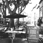 nearby street cafe