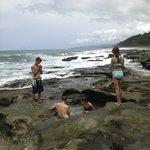 tidal pools on beach at El Remanso