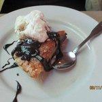 Toll House Pie with Ice Cream & Chocolate Sauce