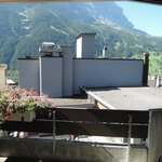 the restaurant ventilation and cooling machine in front of balcony