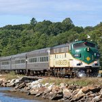 Maine Eastern rolling through Wiscasset